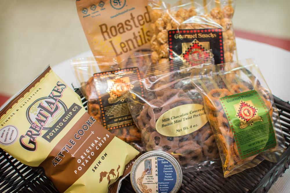 ... Traverse City Caramel Popcorn Chocolate Covered Er Twists Seasoned Pretzels American Gourmet Esville. Made In Michigan Holiday Gift Baskets 3rd Johnson